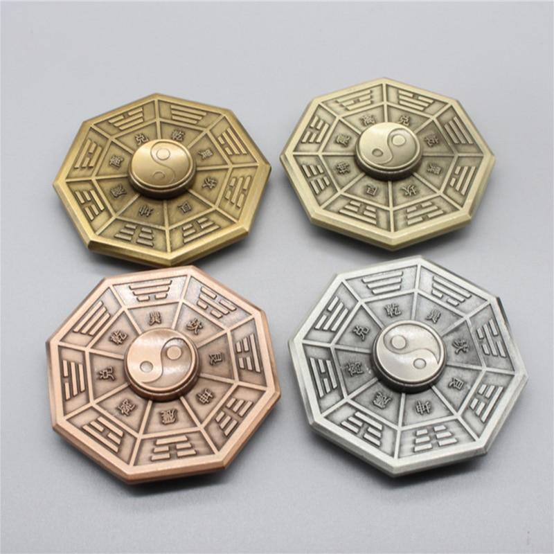 Fidget Spinner Finger-Gyro Anti-Stress Metal Toy Eight Adult Gift Taiji Diagrams img5