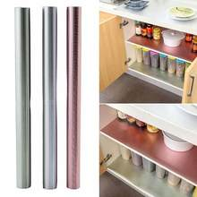 45*150cm Waterproof Anti-Oil Table Mat Drawer Cabinet Cupboard Shelf Liner Pad Paper Kitchen Refrigerator Shelf Cover Mat(China)