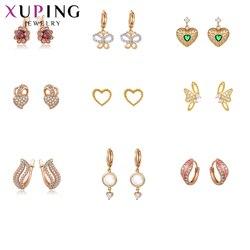 Xuping moda luksusowe zwykły prosty kształt kolczyki uroczy styl biżuteria dla kobiet Top sprzedaż Temperament prezenty 80483