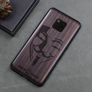 Image 5 - Novo Para Huawei Companheiro 20 Pro Caso Tampa de Madeira de Ébano Preto Para Huawei Companheiro 20 Esculpido Carros TPU Caso De Madeira para Huawei Companheiro 20 X Pro