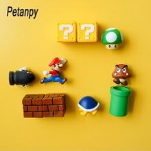 10 шт. 3D Super Mario Bros. Магниты на холодильник стикер сообщений забавные Девочки Мальчики для малышей детей студентов игрушки подарок на день рождения