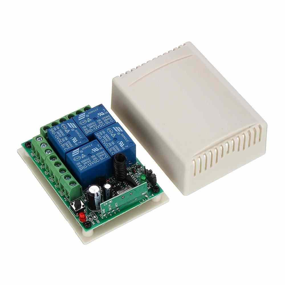 Claite 4 Kênh 315 Mhz 12V RF Không Dây Điều Khiển Từ Xa Tiếp Sức Với Dùng Cho Cửa Cửa Sổ Công Tắc Học Tập loại