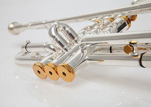 Image 4 - BULUKE trompette instrument de musique Bb plat trompette classement préféré plaqué plaqué trompette performance professionnelle