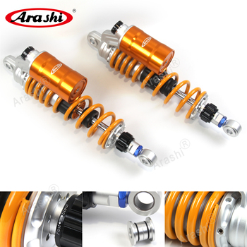 ARASHI Universal 330mm Motorcycle Suspension Adjustable Nitrogen Charged Rear Shock Absorbers For Honda CB400 VTEC 1999-2019