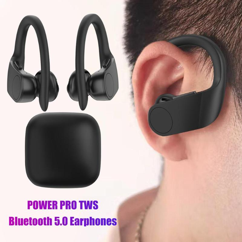 Hot Sale Earphones Delicate Design POWER PRO <font><b>TWS</b></font> Wireless BT5.0 In-ear Stereo Handsfree Earphones with Charging Box image