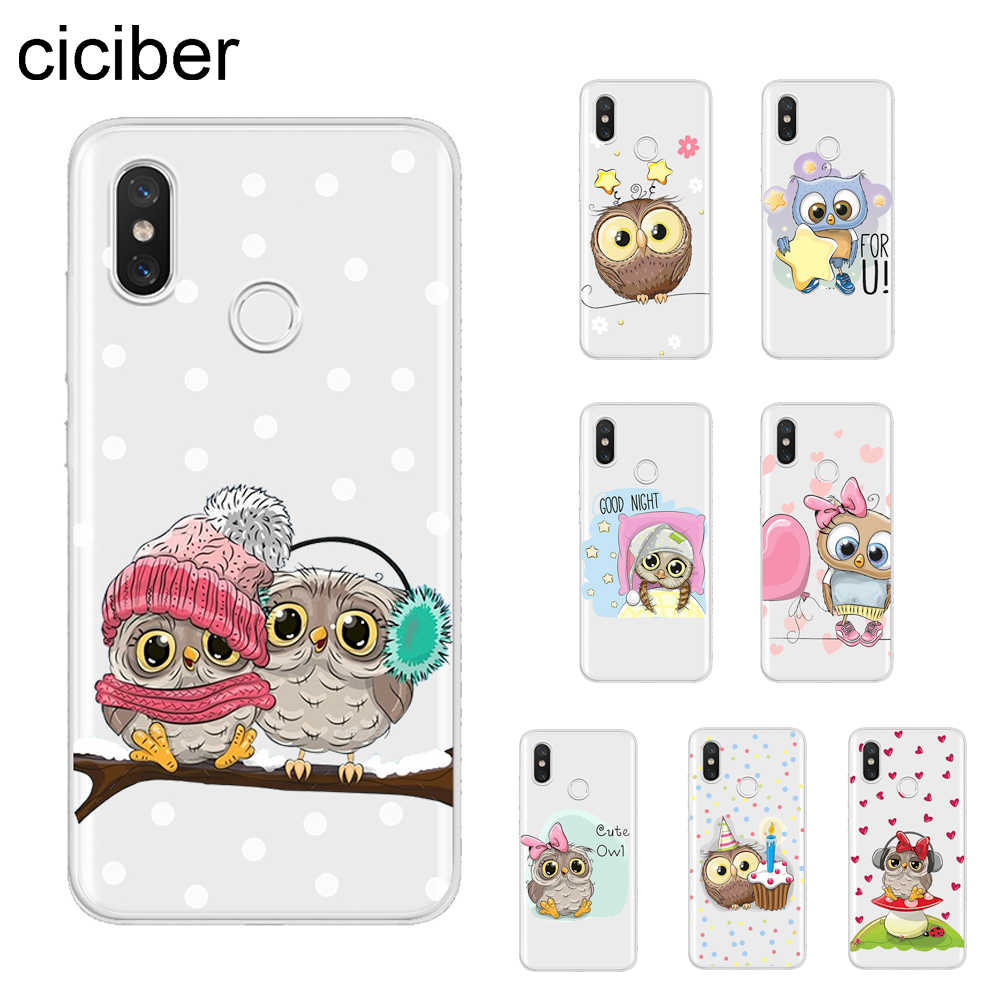 ciciber Animal Owl Cover For Xiaomi MIX MAX 3 2 1 S Pro MI A2 A1 9 8 6 5 X 5C 5S Plus Lite SE Pocophone F1 Phone Cases Soft TPU