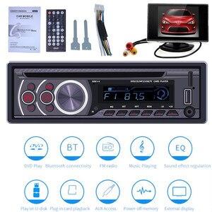 Image 1 - 1 عرض سيارة CD DVD VCD لاعب بلوتوث 4.0 يدوي راديو FM إخراج الفيديو الموسيقى مشغل ديفيدي/USB/AUX/TF LCD السيارات الوسائط المتعددة
