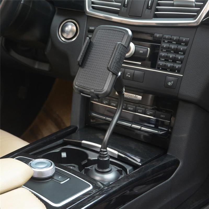 Soporte de copa de agua para coche, soporte de botella de bebida para teléfono móvil, soporte de cuello de cisne para iPhone 11, 12