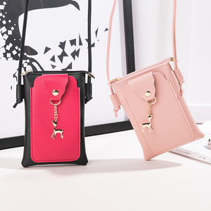 Nowa damska japońska i koreańska nowa damska torba casualowy portfel Deer Phone Bag kwadratowa torba ze sznurkiem torba na ramię/Crossbody Mini torba