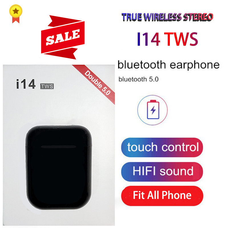 Original i14 TWS Blutooth auriculares Mini inalámbricos auriculares estéreo auriculares deportivos auriculares audifonos para celular elari PK i80 i88