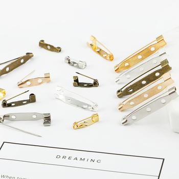 50 sztuk 15 20 25 30 35mm 5 kolorów pozłacane broszka spinka bazy szpilki puste mechanizm blokady broszka Pin bazy dla majsterkowiczów do komponenty do wyrobu biżuterii tanie i dobre opinie Celadon Baza broszki 0inch Brooch bases Ocena biżuteria Metal FZC009 15mm 20mm 25mm 30mm 35mm Rhodium Silver Gold KC Gold Antique Bronze