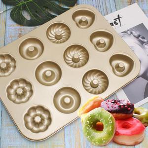 Image 5 - Baking Pastry Tool Carbon Steel Donut Mold Doughnut Mold  Baking Pan Baking Tray Chocolate Cake Mold Kitchen Bakeware DIY Tools