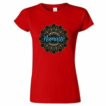 NAMASTE DESIGN WOMENS T SHIRT PRESENT HINDU HINDI HINDUISM NEPAL INDIA INDIAN(China)