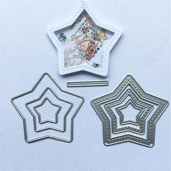 ¡Novedad de 2020! Troqueles de corte de Metal en capas de estrella de pentagrama de Julyarts, molde para álbum de recortes DIY, tarjetas de papel decorativas para manualidades en relieve