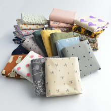 140x50cm New Autumn and Winter Fabric Christmas Flower Pure Cotton Brushed Cloth Flannelette Making Clothes 210g/m
