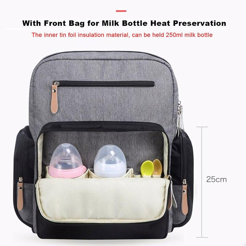 LAND Baby Bags with Stroller Hooks Large Capacity Diaper Bags Waterproof Mummy Bag Maternity Backpack Bag Travel Nursing Handbag
