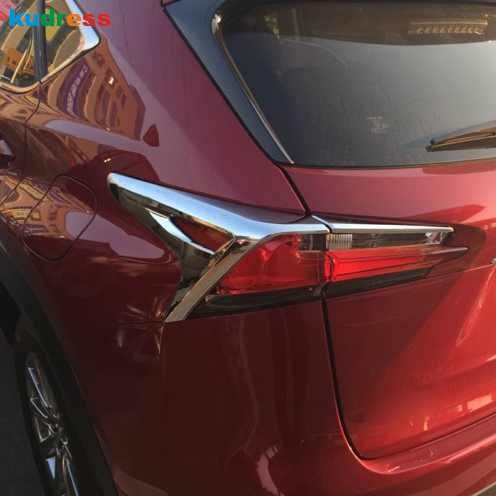 For <font><b>Lexus</b></font> <font><b>NX200</b></font> NX200t NX300h 2015 2016 abs Chrome Rear Lamp Cover Tail Light Shade Frame Decoration Trims Accessories image