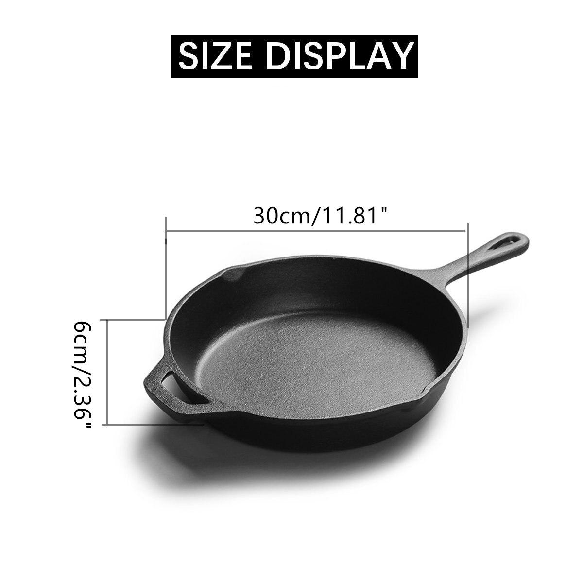 Poêle en fonte antiadhésive poêle multi-usages poêle à crêpes Steak Grill casserole marmite ustensiles de cuisine outils de cuisson - 6