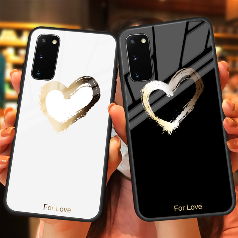 Pattern Cover Tempered Glass <font><b>Case</b></font> For <font><b>Samsung</b></font> Galaxy Note 10 Plus 9 8 <font><b>S10E</b></font> S10 S9 S8 S20 Plus A70 A50 A30 A10 A51 A71 Glass <font><b>Case</b></font> image