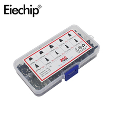 Мини кнопочный переключатель, 200 шт./лот, 10 значений, 6*6, рисоварка/телефон/печатная плата, для технического обслуживания, 6x6x4,3 клавиши