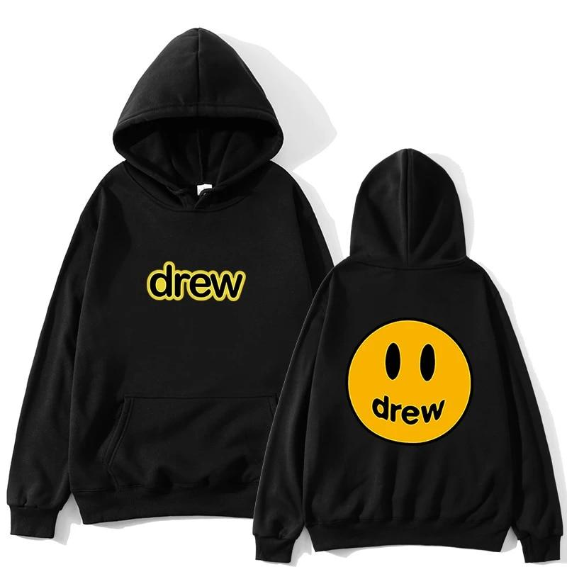 Streetwear Hoodie Men Justin Bieber The Drew House Smile