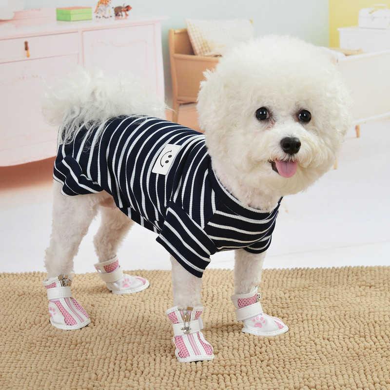 Ubranka dla zwierząt czarno-biała sukienka w paski t-shirty miłośnicy garnitur ubrania dla psów małe średnie koty psy spódnice ubranko dla kota artykuły dla zwierząt