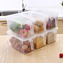 Refrigerator Storage Box Kitchen With Handle Transparent Receiving Sealed Drawer Thickened