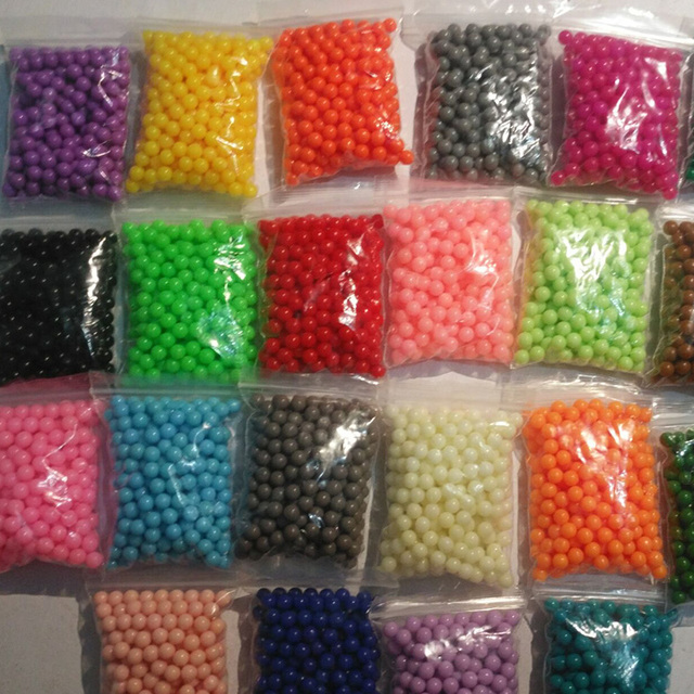 6000pcs 24color Beads Puzzle Crystal Color Aqua DIY Beads Water Spray Set Ball Games 3D Handmade Magic Toy for Children
