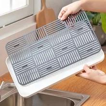 1pcs Drain Rack Plastic Dish Drainer Dryer Tray Large Sink Drying Rack Worktop Kitchen Organizer Drying Rack Kitchen Accessories