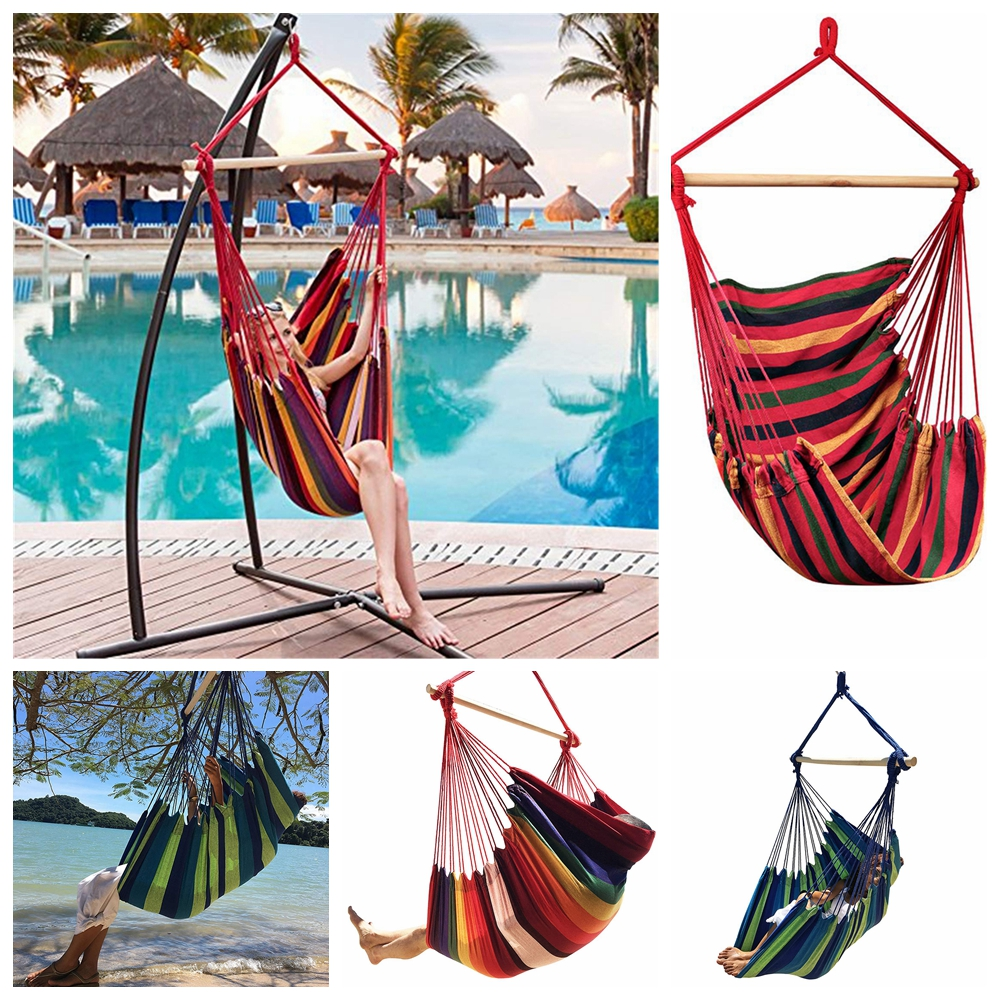 Home Garden Balcony Swing Bed Hammock Chair Portable Travel Camping Hanging Bed Hammock Bedroom Swing Chair