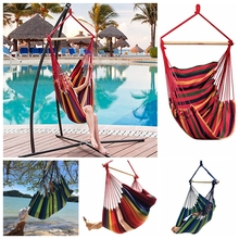 Home Garden Balcony Swing Bed Hammock Chair Portable Travel Camping Hanging Bed Hammock Romantic Bedroom Swing Bed Chair