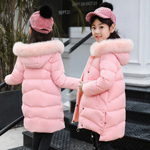 цены Fashion Winter Thicken Long Child Down Coat Fur Collar Baby Girls Jacket Warm Kids Outfits Children Outerwear For 110-170cm