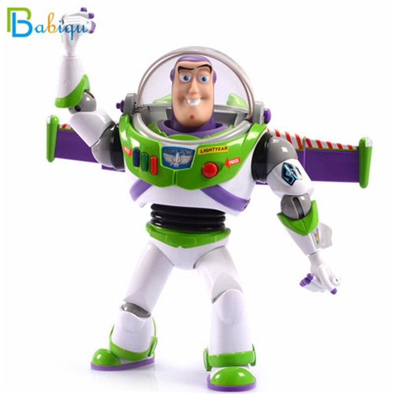 30cm Toy Story 4 habla electrónica zumbido Lightyear Walkable PVC figura de acción modelo muñeca navidad regalo de cumpleaños para el bebé chico