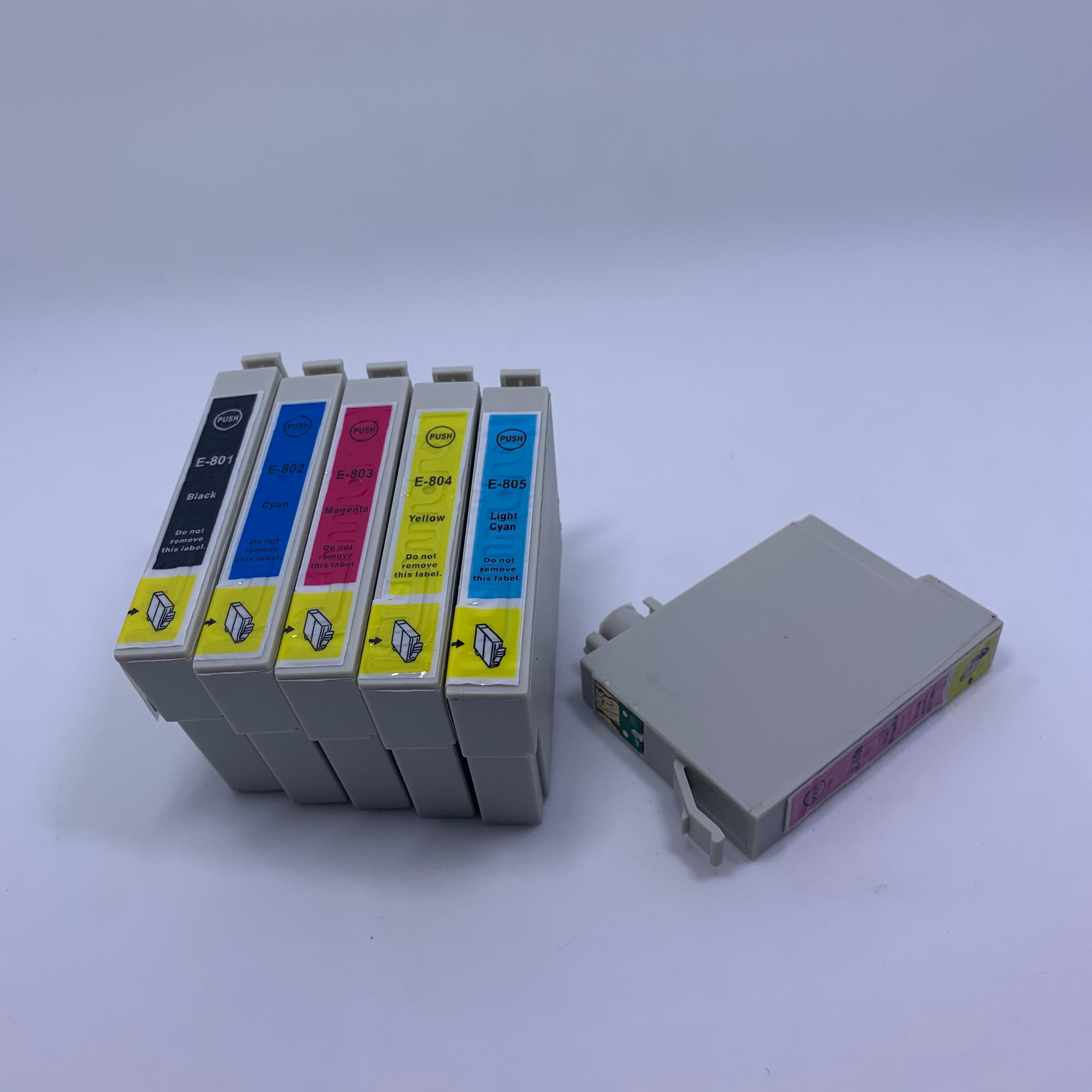 YOTAT Ink Cartridge T0801 T0802 T0803 T0804 T0805 T0806 For Epson Stylus Photo R265/R285/R360/RX560/RX585/RX685/ P50
