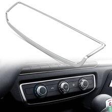 Car styling wnętrze Panel konsoli przełącznik klimatyzacji pokrywa wykończenia akcesoria ze stali nierdzewnej dla Audi A3 8V 2014 2017 rok