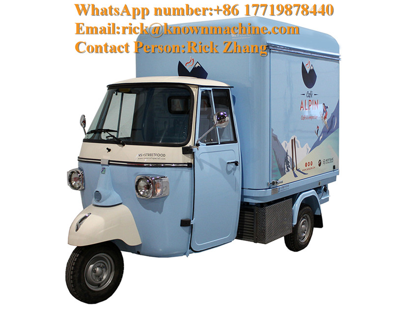Street Foodtruck Ape Classic Electric Food Truck/cart Trailer For Sale USA UK Philippines With Free Shipping By Sea