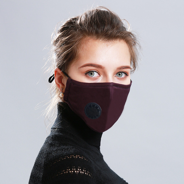Adult Anti Flu Windproof Mouth Mask 3D Fashion Black Color Reusable Earloop Washable Dust Soft Breathable Face Mask 3
