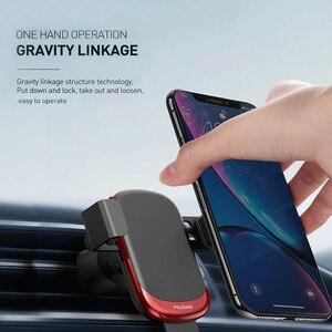 Image 2 - MCDODO ผู้ถือโทรศัพท์ Universal Car สำหรับ iPhone X XS MAX Samsung Huawei Car Air Vent Mount ผู้ถือโลหะแรงโน้มถ่วงโทรศัพท์มือถือผู้ถือโทรศัพท์