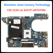 QCL00 LA-8241P motherboard CN-06D5DG 06D5DG HD7670M 15R 6D5DG para dell Inspiron 5520 7520 laptop motherboard dell 5520 mainboard