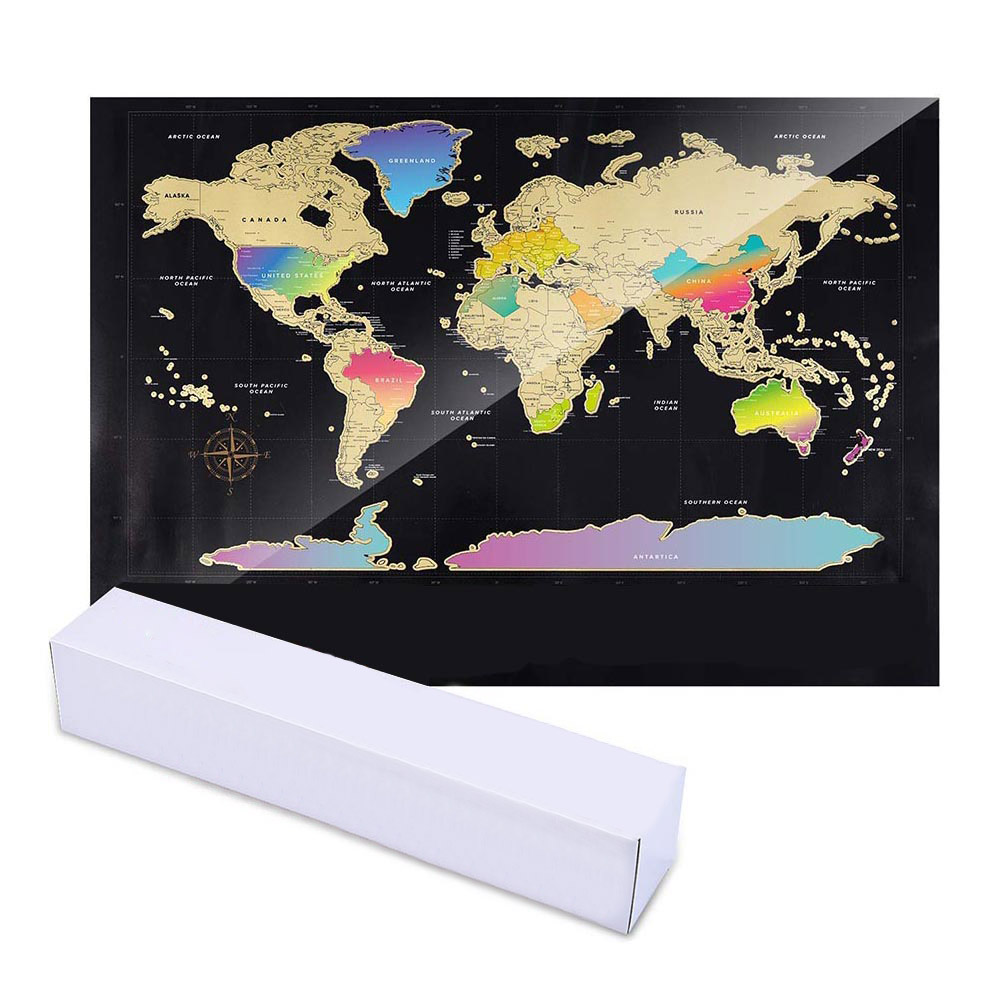 World Map Scratch Off Travel Scratch For Map Room Home Decor Wall Stickers Gifts New Arrival