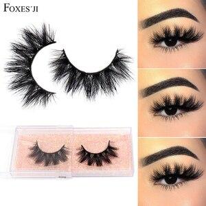 FOXESJI 3D Mink Lashes False Eyelashes Fluffy Thick Cross Dramatic Eyelashes Eye Lashes Reusable Wispy Eyelash Extension Make up(China)
