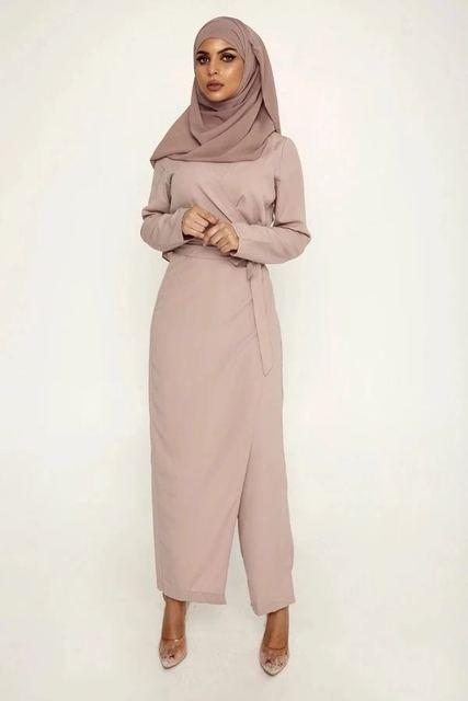 Купить абая для женщин дубай шифон мусульманский комплект комбинезон картинки цена