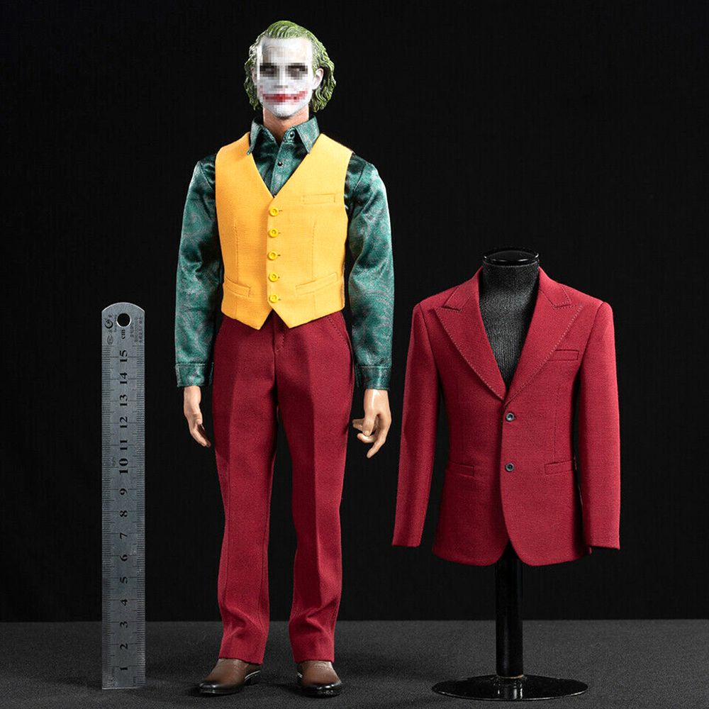 THE BEST TOYS 1//6 THE Joker The Dark Knight Clothes Suit W// Accessories IN STOCK