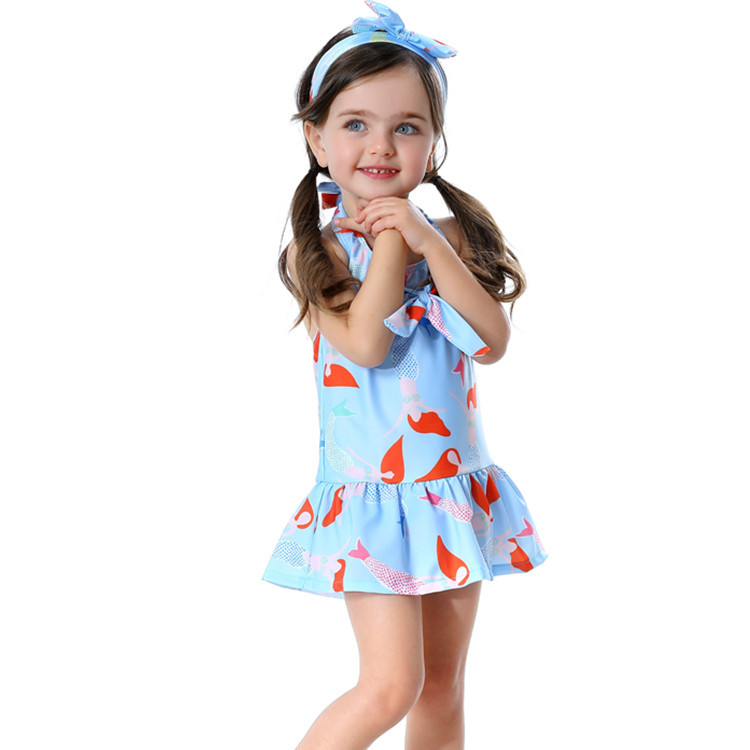 KID'S Swimwear GIRL'S Dress-Polka Dot Tour Bathing Suit Girls Baby Swimwear Cute Kids BABY'S Bathing Suit