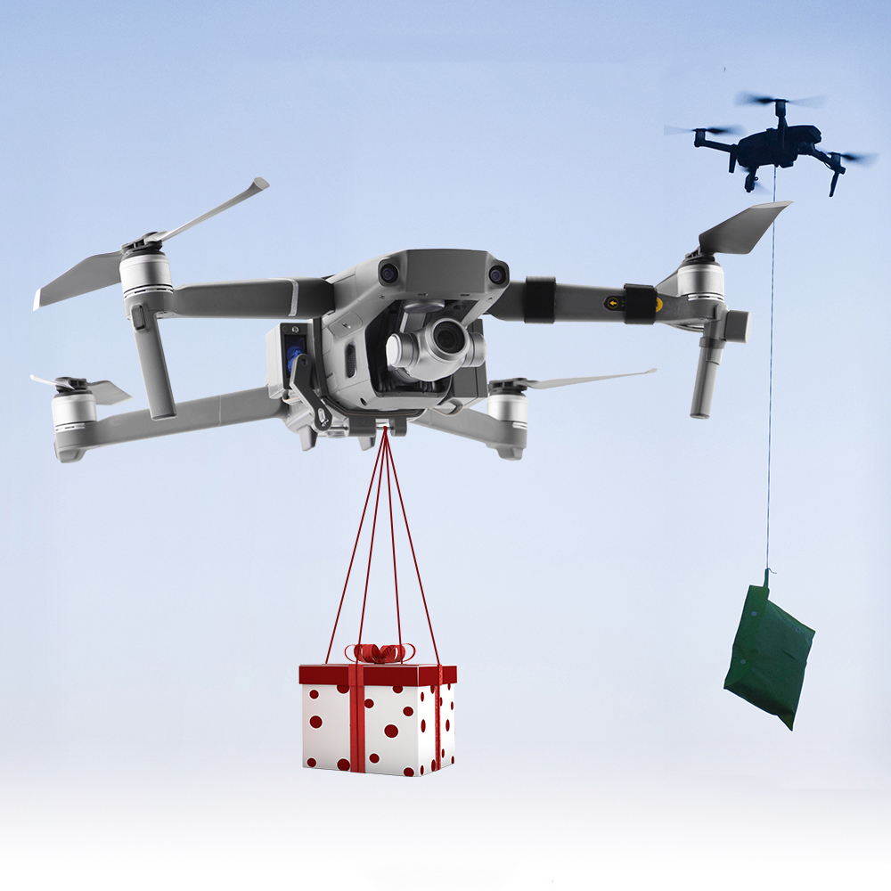 Cheap Offer for  New 1 Set Wedding Ring Proposal Delivery Device Dispenser Thrower Drone Air Dropping Transport Gift