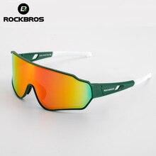 ROCKBROSจักรยานPolarized Photochromicสายตาสั้นแว่นตาจักรยานแว่นตากีฬาผู้ชายผู้หญิงตกปลาขี่จักรยานแว่นตากันแดด