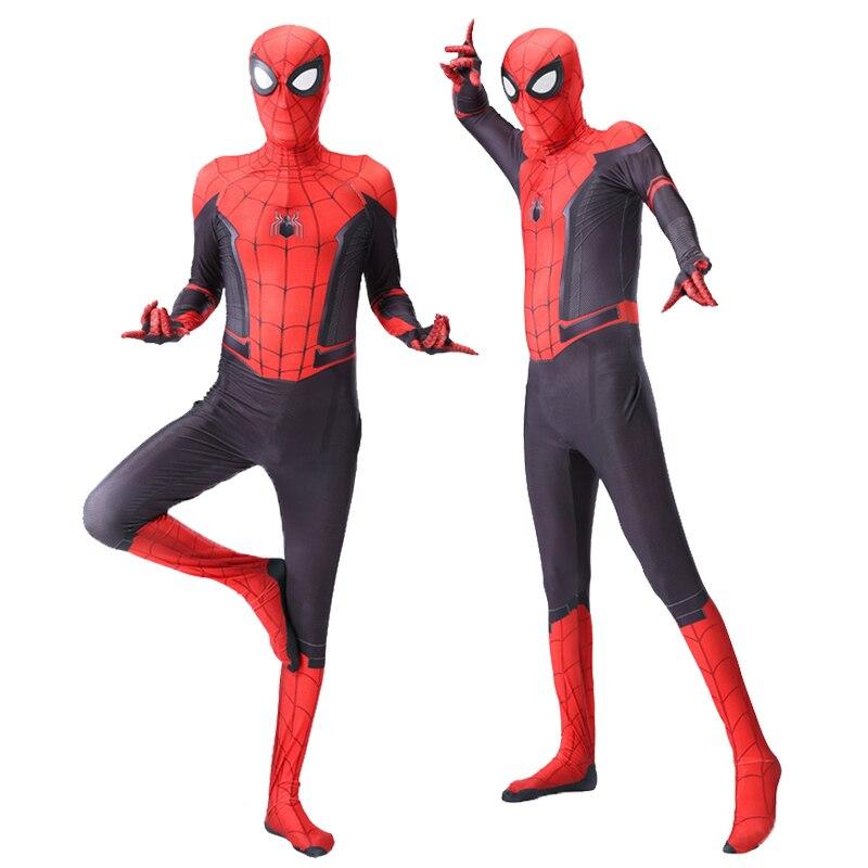Halloween super herói vermelho spiderboy carnaval traje collants ternos máscara para crianças adulto todo o corpo do super herói macacões|Fantasias de filme & TV|   - AliExpress
