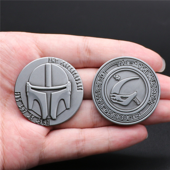 The Mandalorian Collect Coin Cosplay Props Badge Bounty Hunter Boba Fett Metal Gifts image