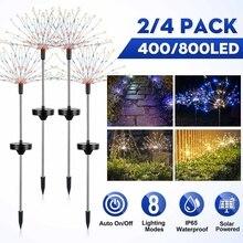 400 / 800 Leds IP65 Solar Lamp LED fireworks string lights Garden Multicolored Outdoor Lighting Solar Firework Lawn Lamp