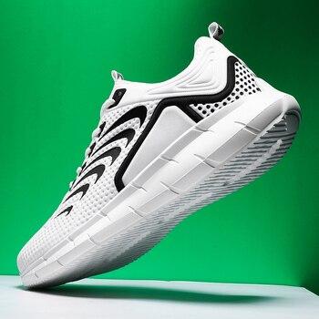 Zapatillas de correr para hombre, transpirables, diseño antideslizante, suela de amortiguación, zapatos deportivos de buena calidad para entrenamiento y trotar 1